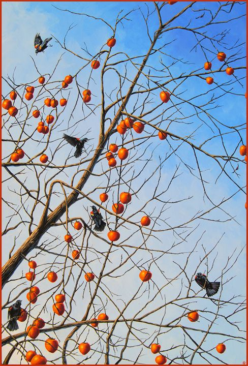 Persimmon Friends - Matt Fields Robinson Art