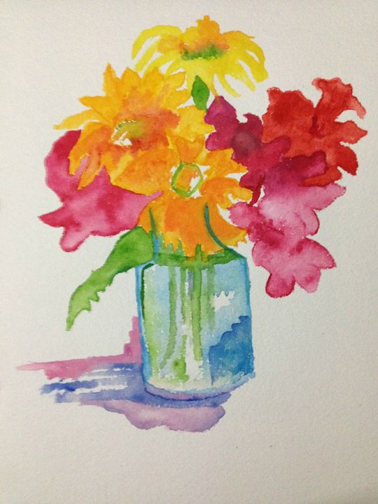 Flowers  that spread colors - Sai Arts