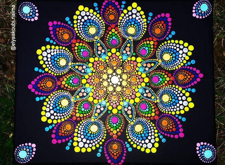 Dotting mandala - Mandalaart