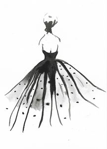 Ball Gown Fashion Watercolor