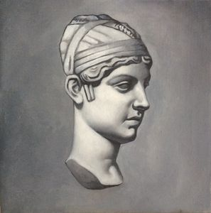Oil painting classical bust
