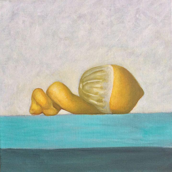 Still life of a lemon - OlivierArts