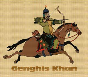 Genghis Khan on Horseback