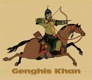 Genghis Khan on Horseback - DICK GAGE