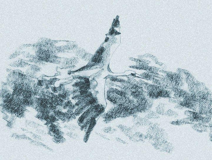Stork Flying - DICK GAGE