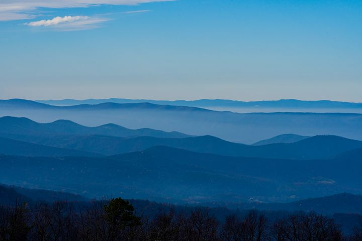 Blue Ridge Silhouette - Aaron Schantz Photography