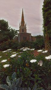 Church from the garden