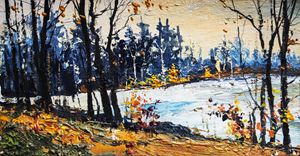 Autumn,Original acrylic painting - Artgallery