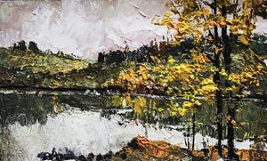 Landscape,Original acrylic painting,