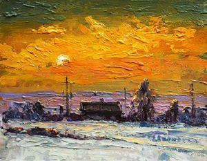 Winter,Original acrylic painting