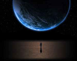 Man Looking At The Earth