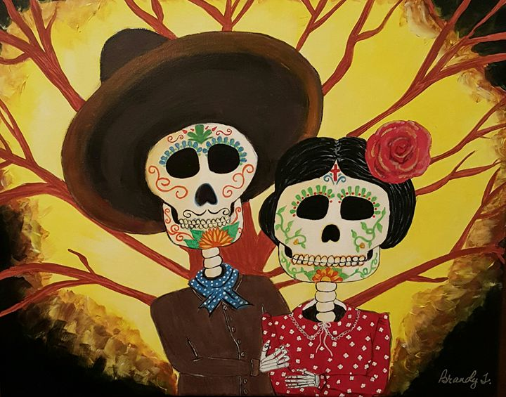 Day of the Dead Couple - Art By Brandy