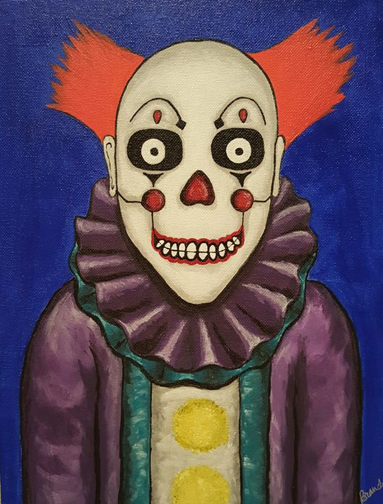 Day of the dead clown - Art By Brandy