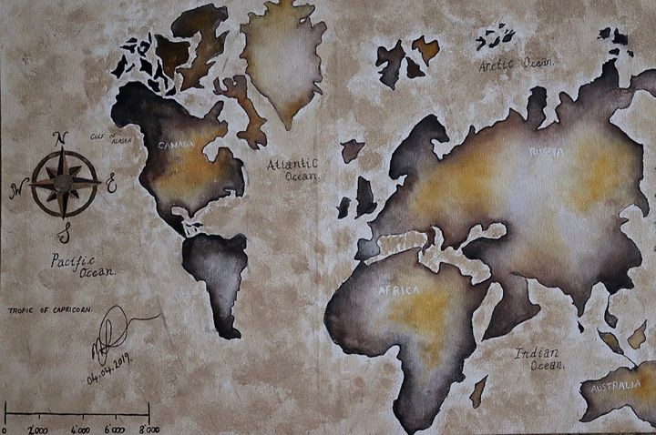 World Map - M. Fowler