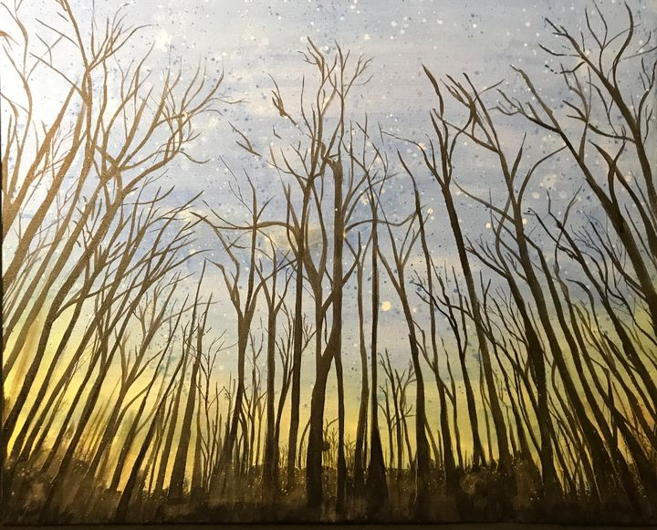 Forest at Dawn 30x24 - Artwork of BPullen