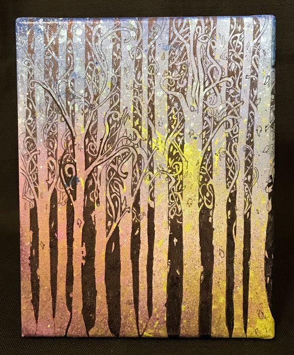 Abstract Forest (Original Painting) - Artwork of BPullen