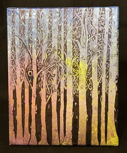 Abstract Forest (Original Painting)