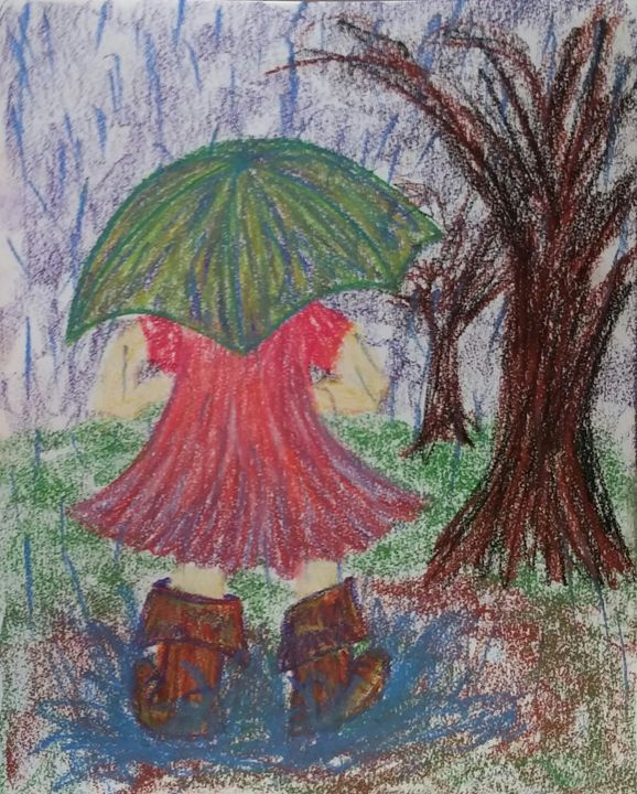 Playing in the Rain - Morgan Carroll Art