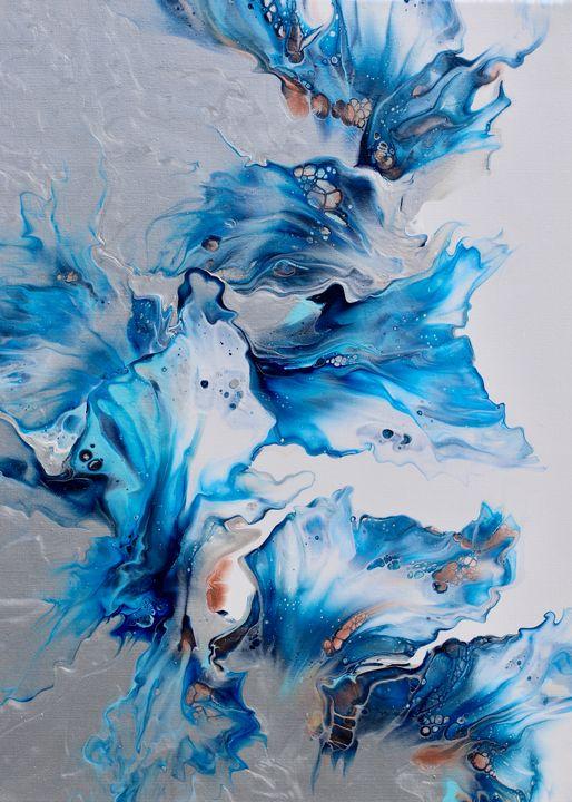 Blue Fantasy - Blended Elements Art