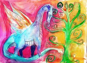 Medieval Tapestry Dragon