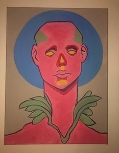 The pink man