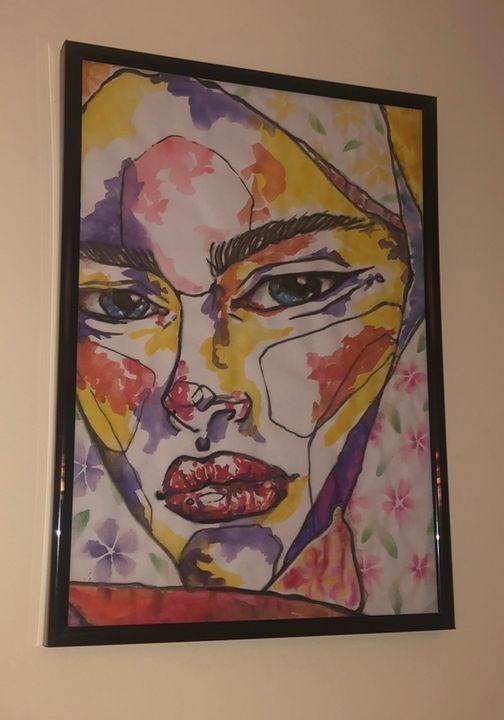 Colourful flower woman - Emily Dorrington