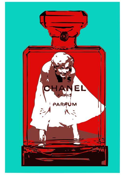 Marilyn Monroe, White Dress, Chanel - timgaskin