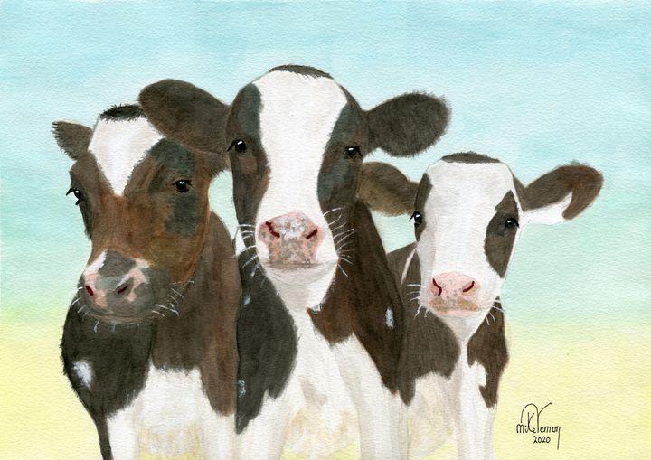 Triplets 3 - Mike Vernon Art