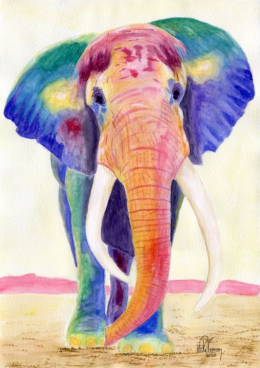 African Elephant - Mike Vernon Art