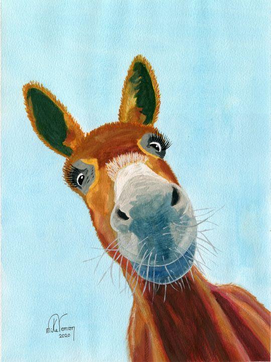 Donkey - Mike Vernon Art