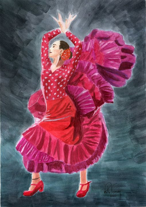 Flamenco Dancer - Mike Vernon Art