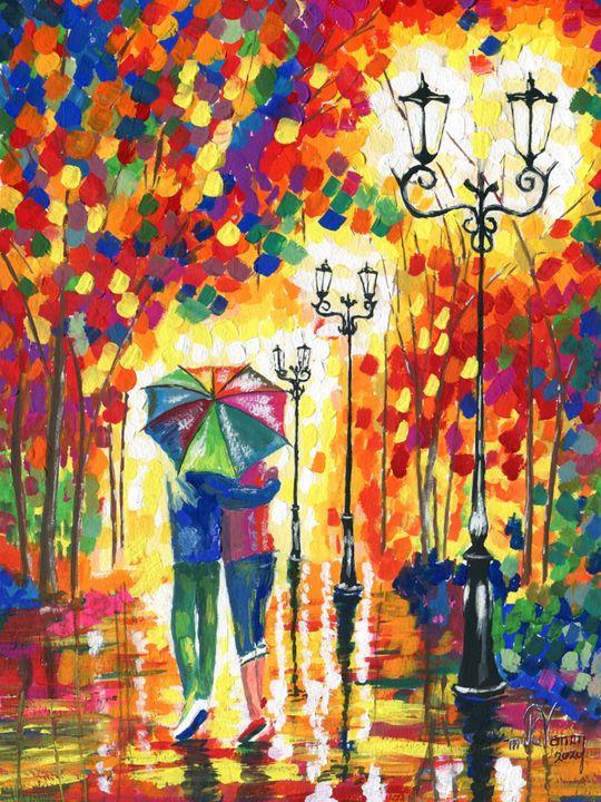 Walk in the Rain - Mike Vernon Art