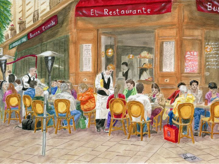 El Restaurante - Mike Vernon Art