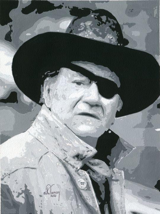 John Wayne as 'Rooster Cogburn' - Mike Vernon Art