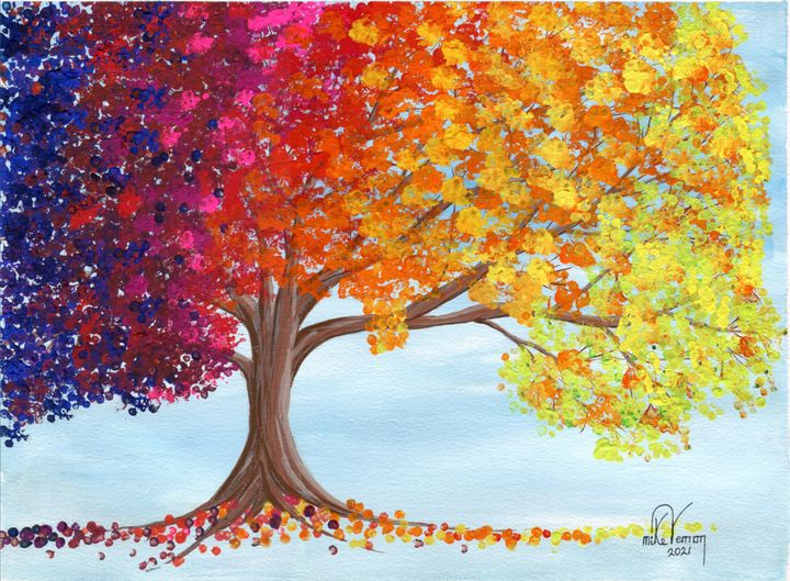 Rainbow Tree 1 - Mike Vernon Art