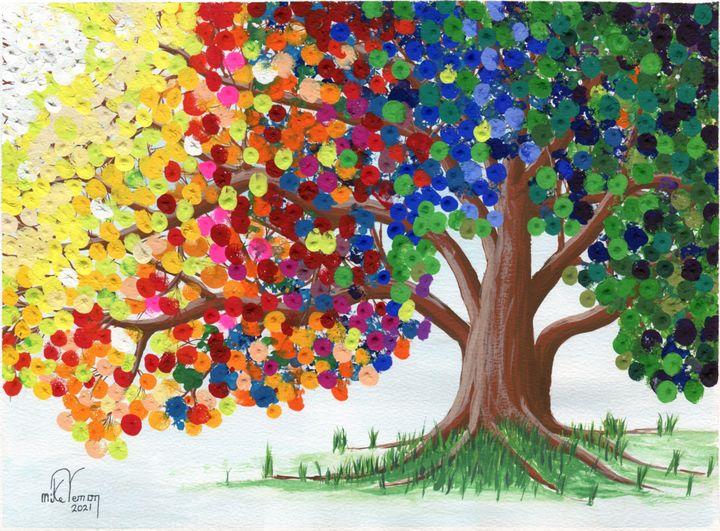 Rainbow Tree 2 - Mike Vernon Art