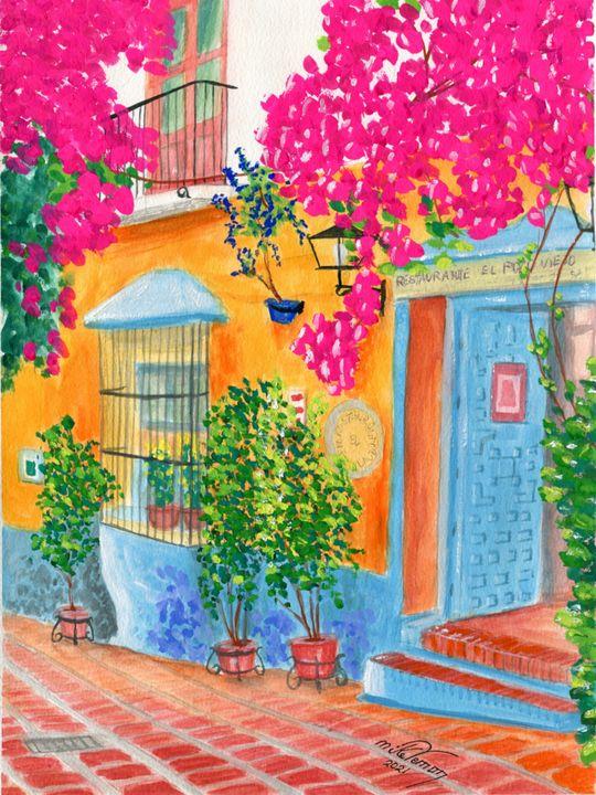 El Restaurante El Pozo Viejo - Mike Vernon Art