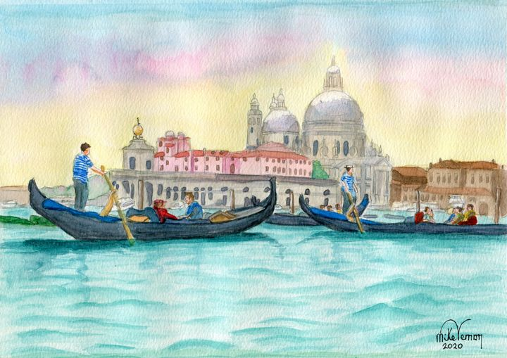 Venice from the water - Mike Vernon Art