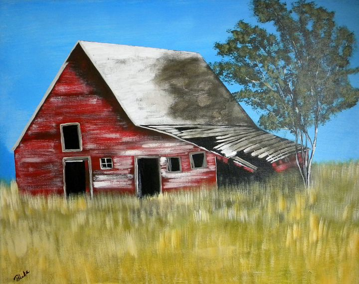 Old Red Barn - Palika Art