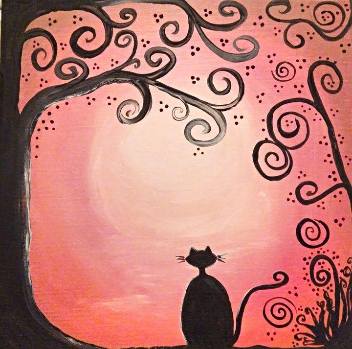 Whimsical Black Cat - Palika Art