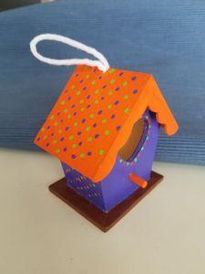 Kaleidoscope Hummingbird house - Corona Crafts Home Accents