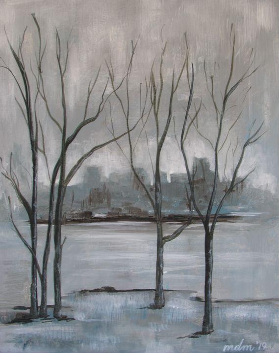 Rainy Winter City - Melissa McDonald