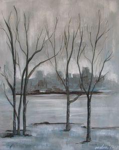 Rainy Winter City