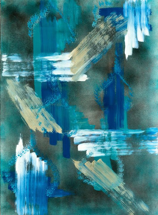 Classy Blues and Whites - Artworks by John Bruno