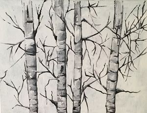 """Birch Trees in Winter"" - karenkaback"