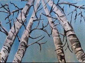 """Snow on the Treetops"" - karenkaback"