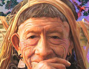 Shaman colourful portrait