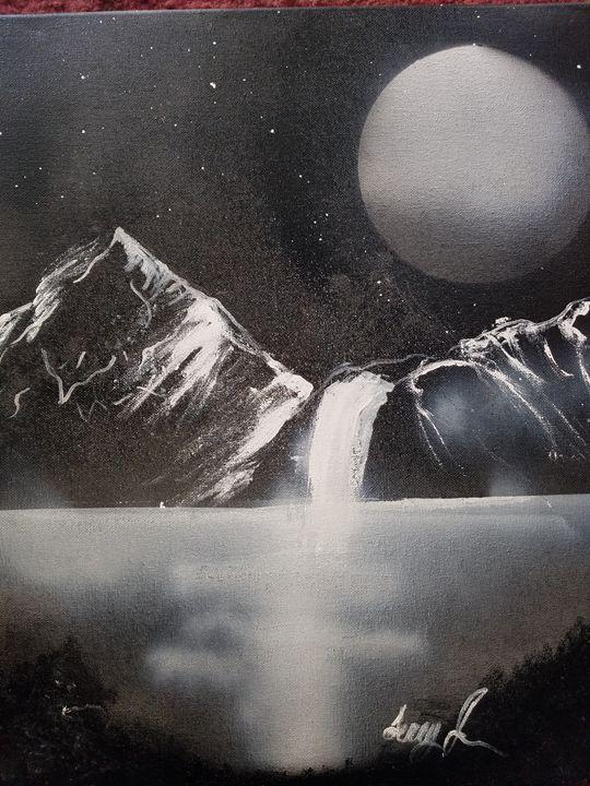 Midnight waterfall - Terry's art