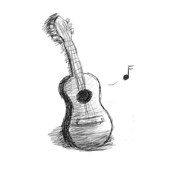 Guitars song - Invisible-angel-art
