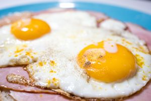 Sandwich with fried egg.